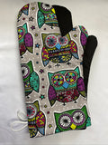 Animals. Owls. Oven mitts. A pair of Fully Functional long Oven Gloves. Adult size!