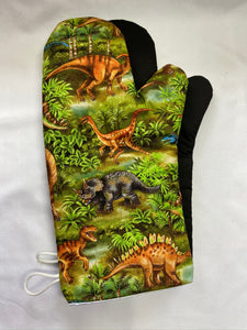 Animals. Dinosaurs oven mitts. A pair of Fully Functional long Oven Gloves!