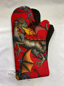 Animals. Dragons. Oven mitts. A pair of Fully Functional long Oven Gloves!