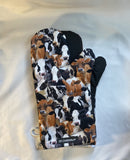 Oven mitts. Animals. Cows oven mitts!