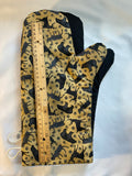Oven mitts, Animals Canadian animals on beige, a pair of fully functional, long oven mitts!
