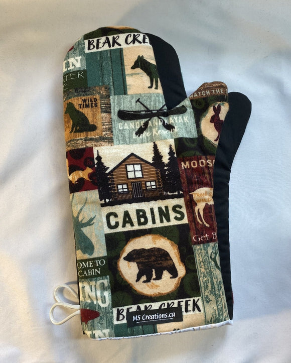 Oven mitts. Animals. Cottage country signs.