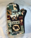 Animals. Cottage country signs oven mitts! A pair of Fully Functional long Oven Gloves. Adult size!