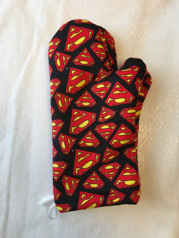 Oven mitts, Superman! A pair of Fully Functional long Oven gloves!