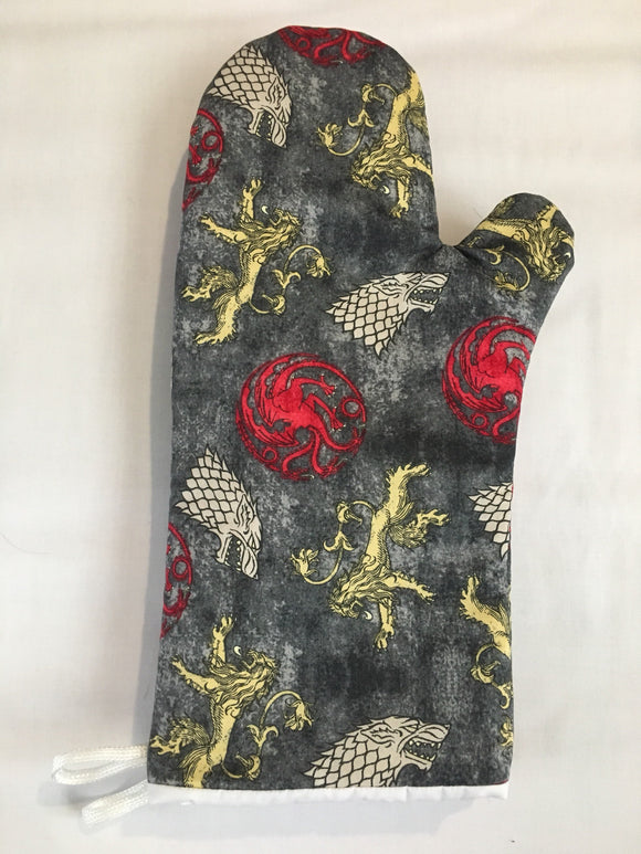Oven mitts, Game Of Thrones Symbols! A pair of Fully Functional Oven gloves!