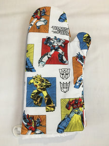 Oven mitts, Transformers! A pair of Fully Functional long Oven gloves!