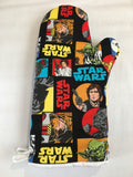 Oven mitts, Star Wars Fun prints! A pair of Fully Functional long Oven Gloves!