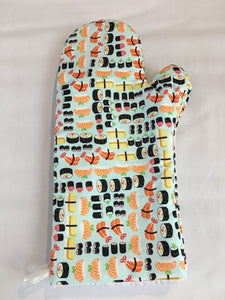Oven mitts, Sushi! A pair of Fully Functional long foodie Oven Gloves!