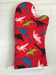 Oven mitts, Dinosaurs! A pair of Fully Functional long Oven Gloves!