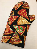 Oven mitts, Pizza! A pair of Fully Functional long foodie Oven Gloves!