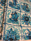 Oven mitts, Netherlands light blue Holland print! A pair of fully functional oven gloves!