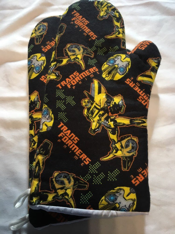 Oven mitts, Transformers Bumble Bee! A pair of fully functional long oven gloves!