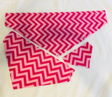 Chevron Dog bandanas! Small, medium and large pink. It fits ON the collar!