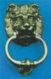 Large Lion Door Knocker 200mm P.B.