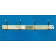 Four Hook Coat Rack 500mm P.B./ C.P./S.N.