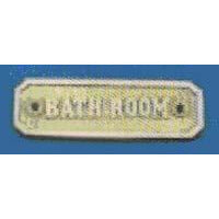 BATHROOM Sign 110x34mm  P.B./C.P.