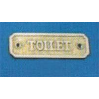 TOILET Sign 110x33mm  P.B./C.P.