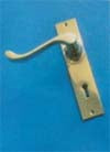 Lever Lock Set 150x30mm P.B./C.P./S.N.