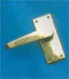 Lever Latch Set 100x42mm P.B.