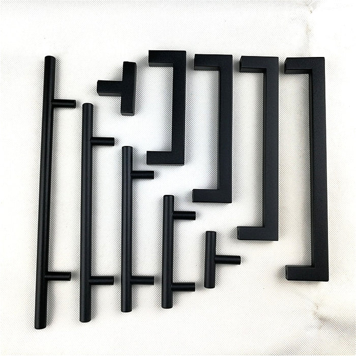 Matt Black Square Handles