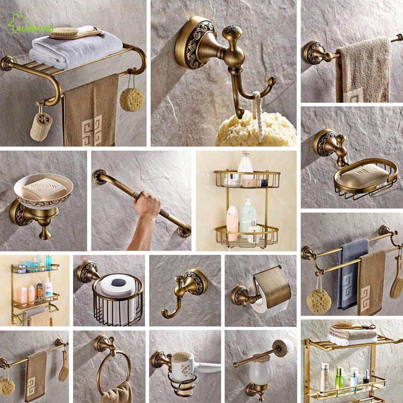 Antique Soild Brass Bathroom Set
