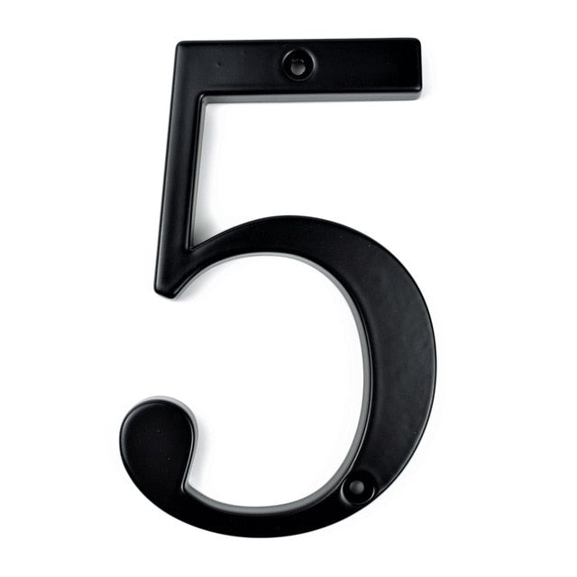 "Black 4"" 101mm House Number"