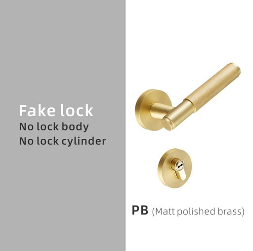 Knurl Door Lock Lever Set