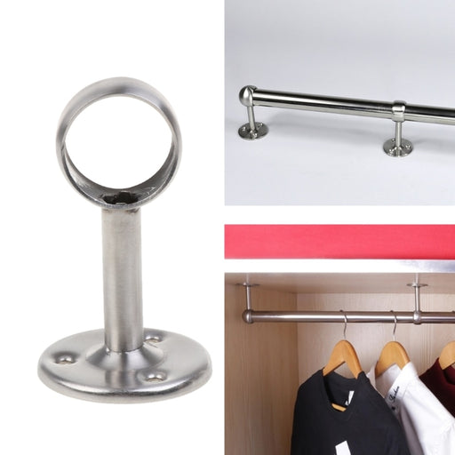 Stainless Steel Wardrobe Ceiling-Mount Support Base