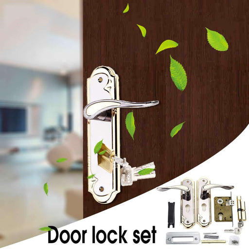 Silver Gold Door Lock Set
