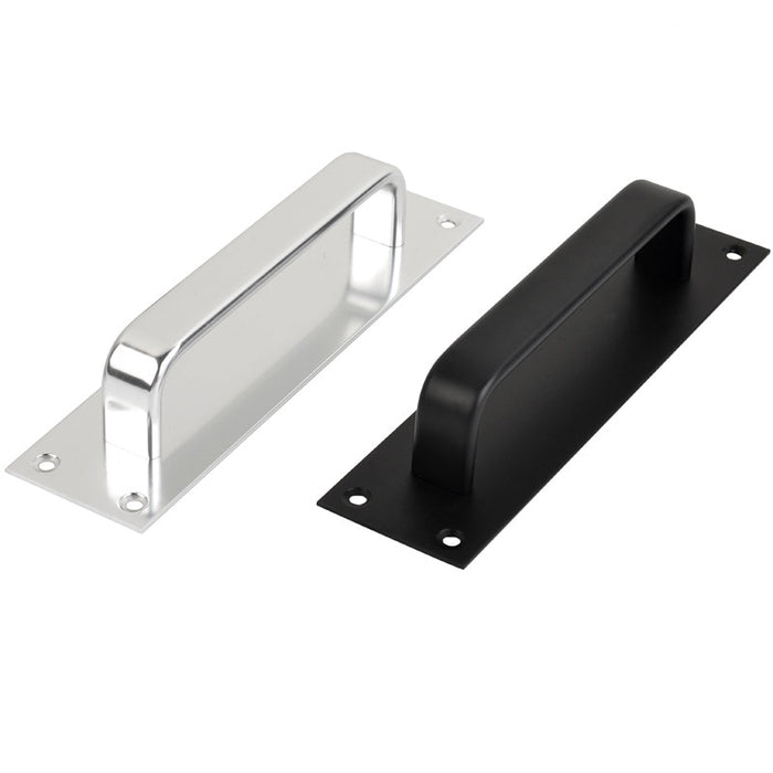 Push/Push Door Handle Matte Black/Silver