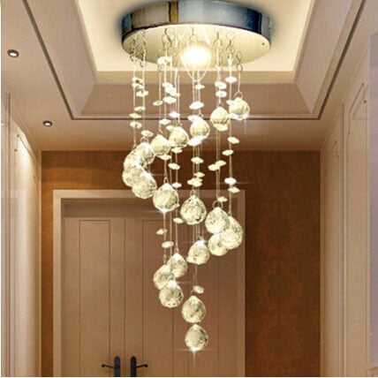 Spiral Crystal Chandelier