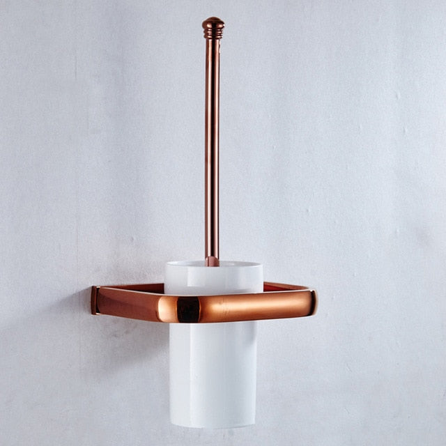 Luxury Rose Gold Bathroom Accessories Set