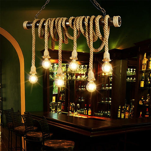 Vinatage Ceiling Rope Lamp
