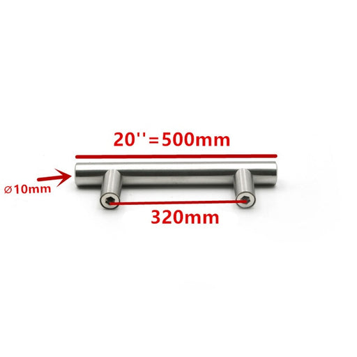 50mm-500mm Stainless Steel Kitchen Door Cabinet T Bar Handle