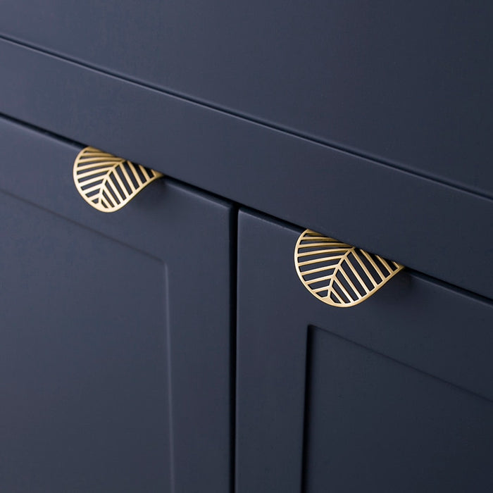 Brass Leaf shape Drawer Pull Handle