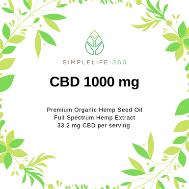 CBD FULL SPECTRUM 1000 MG 1 OZ (30ML) - PREMIUM GRADE ORGANIC HEMP OIL - SimpleLife360