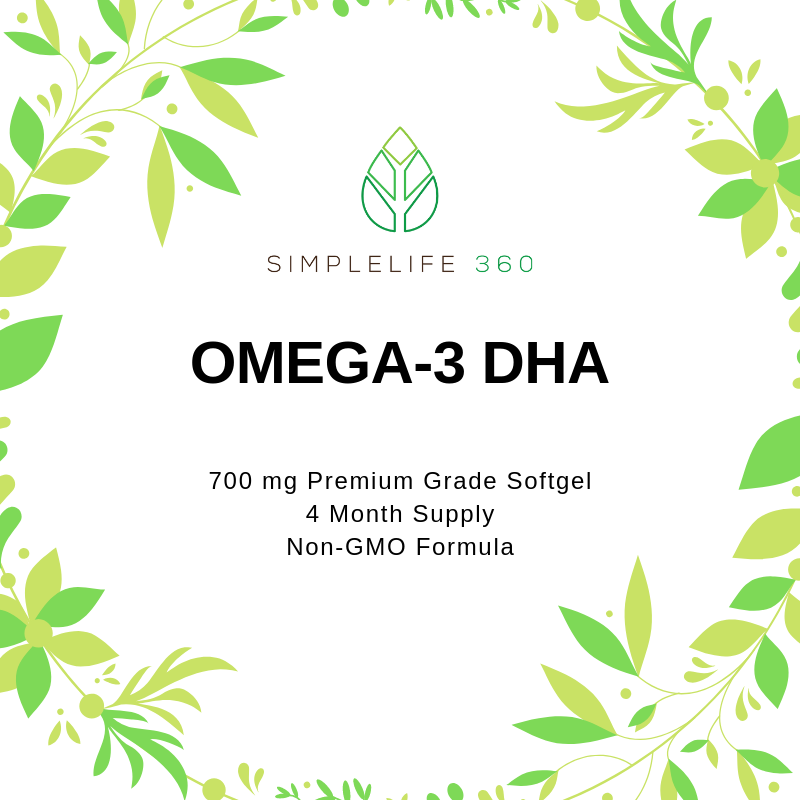 OMEGA-3 + DHA 700 MG PREMIUM GRADE SOFTGEL - 120 SERVINGS - 4 MONTH SUPPLY - SimpleLife360