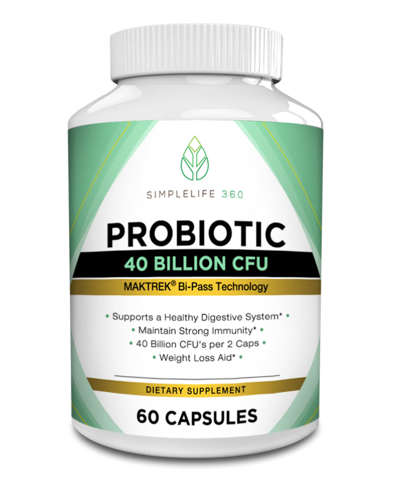 PROBIOTIC 40 BILLION CFU - 60 COUNT - SimpleLife360