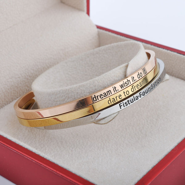 Stainless Steel Gold Look Bracelet
