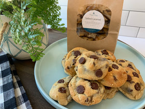 Angela's Salted Caramel Chocolate Chip Cookies (VEG)