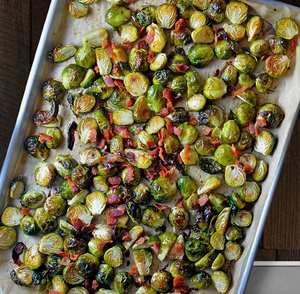 Roasted Brussel Sprouts with Bacon (GF,K,DF)