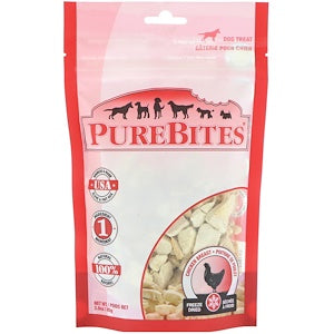 Pure Bites, Freeze Dried, Dog Treats, Chicken Breast, 3.0 oz (85 g)