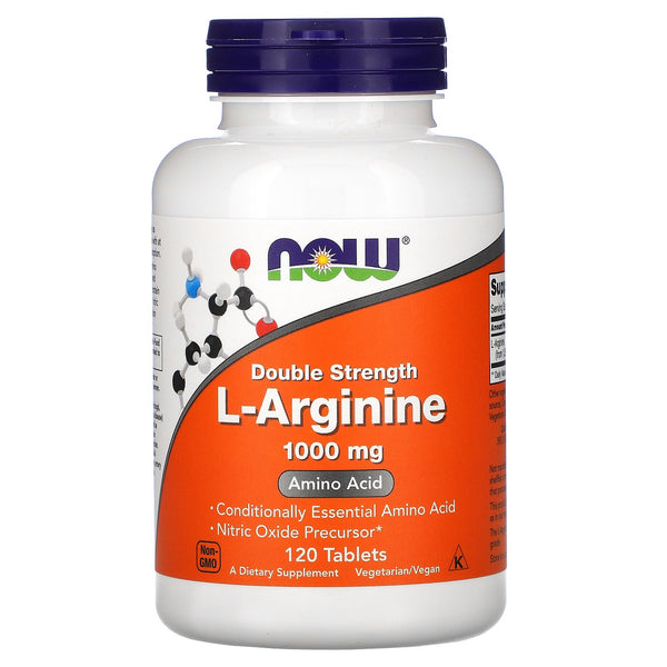 Now Foods, L-Arginine, Double Strength, 1,000 mg, 120 Tablets