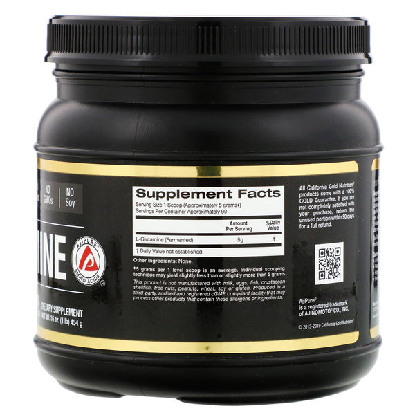California Gold Nutrition, L-Glutamine Powder, AjiPure,Gluten Free, 16 oz (454g)