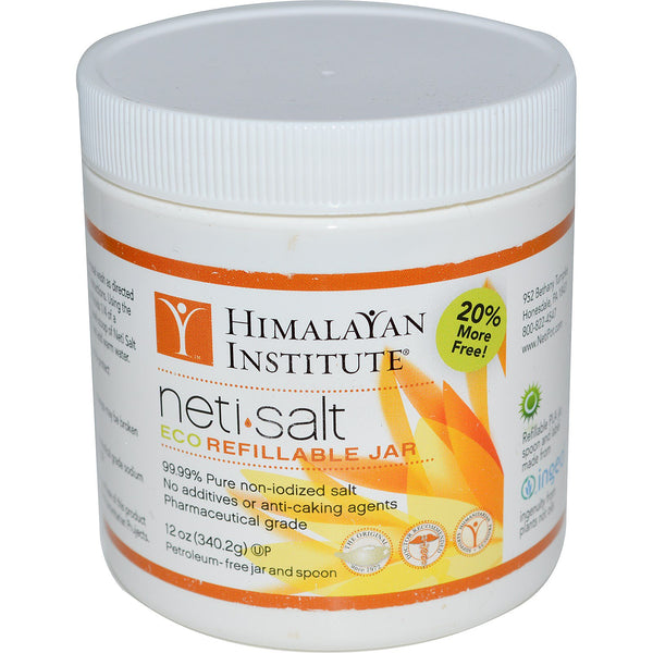 Himalayan Institute, Neti•Salt, Eco Refillable Jar, 12 oz (340.2 g)