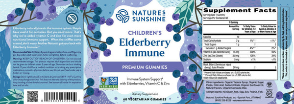 Children's Elderberry  Immune—NEW (60 veg. gummies)