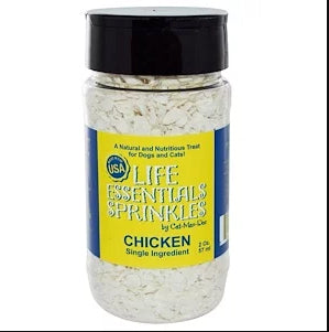 Cat-Man-Doo, Life Essentials Sprinkles for Cats & Dogs, Chicken, 2 oz (57 g)