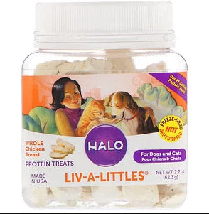 Halo, Liv-A-Littles, Protein Treats, 100% Whole Wild Salmon, For Dogs & Cats, 1.6 oz (45.3 g)