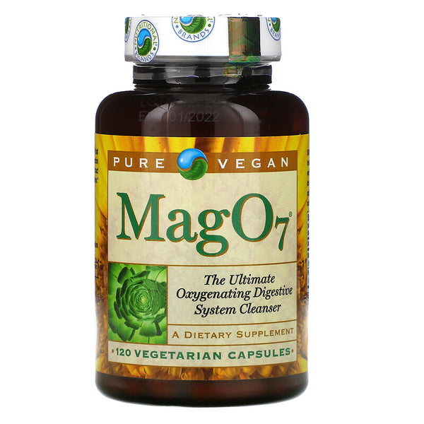 Pure Vegan, Mag 07, The Ultimate Oxygenating Digestive System Cleanser, 120 Vegetarian Capsules (Vegan)