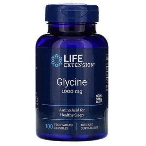 Life Extension, Glycine, 1,000 mg, 100 Vegetarian Capsules
